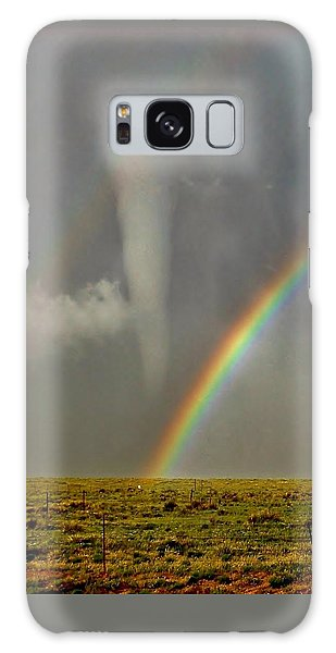 Tornado And The Rainbow II  Galaxy Case by Ed Sweeney