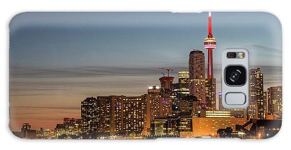 Galaxy Case featuring the photograph Toronto Skyline At Dusk by Adam Romanowicz