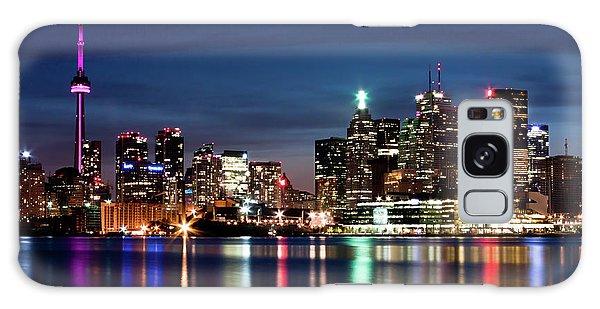 Toronto Skyline At Night From Polson St No 2 Galaxy Case