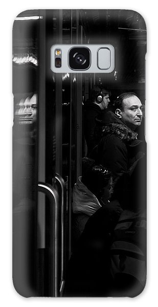 Galaxy Case featuring the photograph Toronto Subway Reflection by Brian Carson