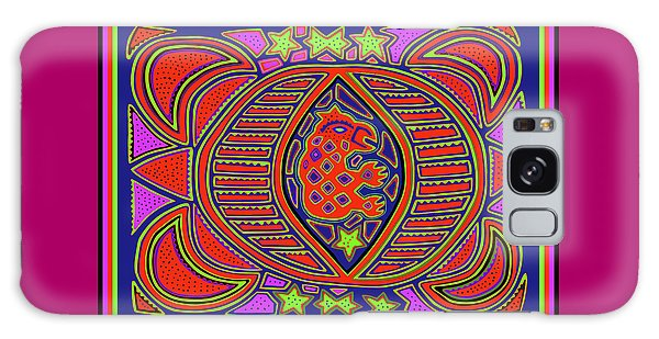 Galaxy Case featuring the digital art Tortuga Shaman Spirits by Vagabond Folk Art - Virginia Vivier