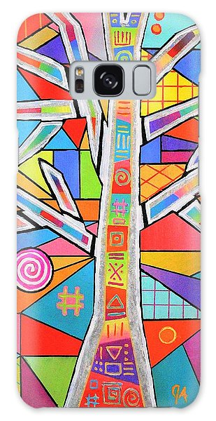 Totem Tree Galaxy Case by Jeremy Aiyadurai