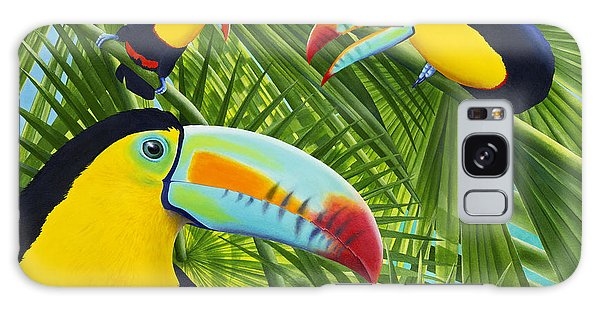 Toucan Galaxy S8 Case - Toucan Threesome by Carolyn Steele