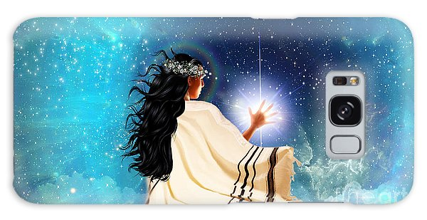 Touch The Light Galaxy Case by Dolores Develde