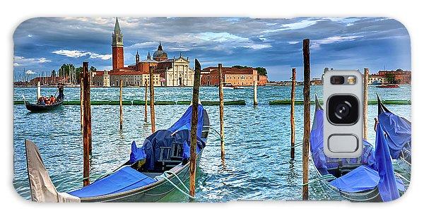 Gondolas And San Giorgio Di Maggiore In Venice, Italy Galaxy Case