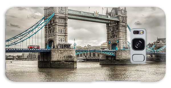 Tower Bridge In London In Selective Color Galaxy Case