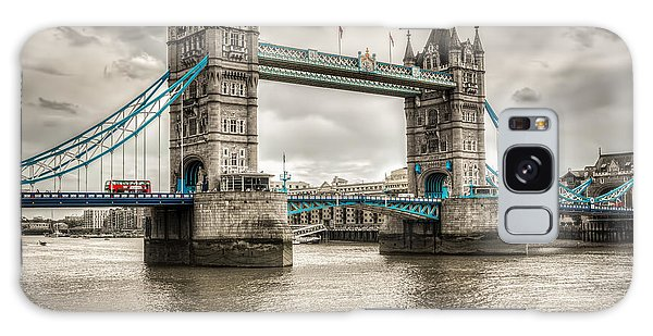 Tower Bridge In London In Selective Color Galaxy Case