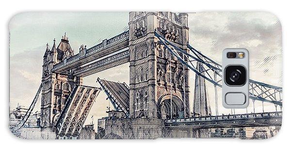 Galaxy Case featuring the digital art Tower Bridge by Pennie  McCracken