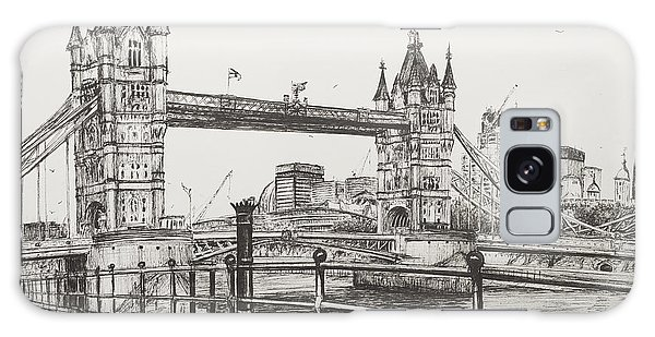 Pen And Ink Drawing Galaxy Case - Tower Bridge by Vincent Alexander Booth