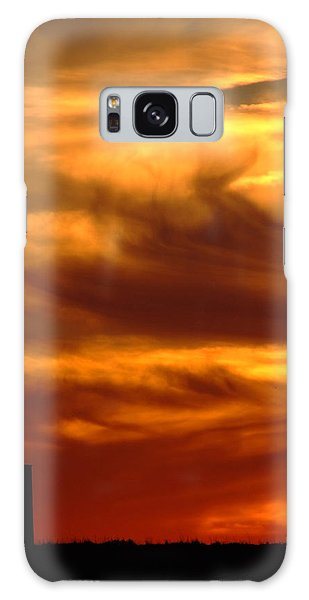 Tower In Sunset Galaxy Case