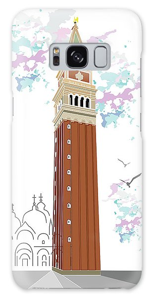 Tower Of Campanile In Venice Galaxy Case