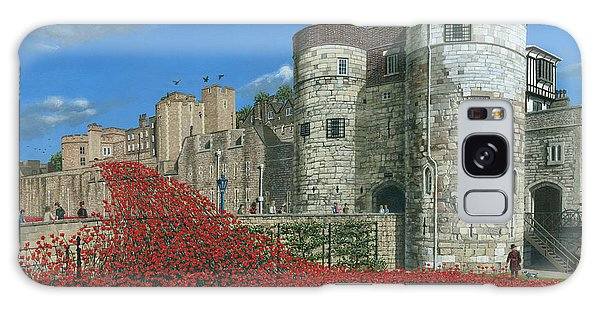 Tower Of London Poppies - Blood Swept Lands And Seas Of Red  Galaxy Case