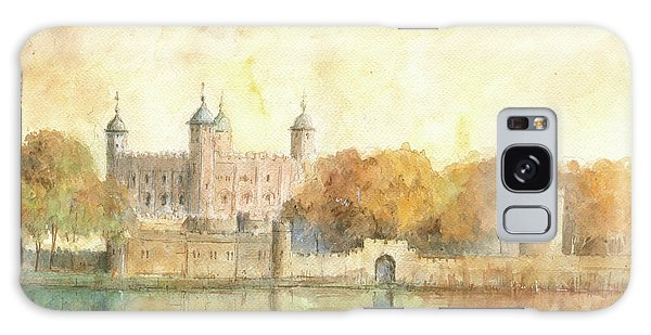 Tower Of London Watercolor Galaxy Case