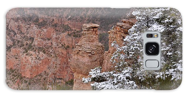 Towers In The Snow Galaxy Case by Debby Pueschel