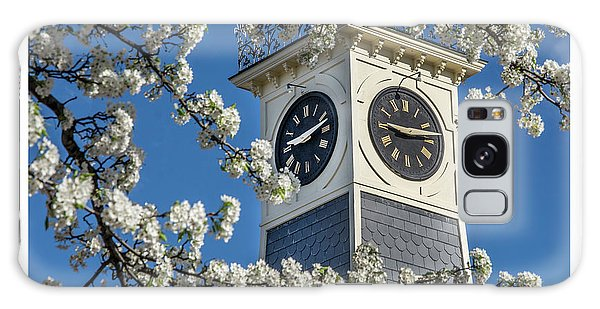 Town Clock In Spring Galaxy Case