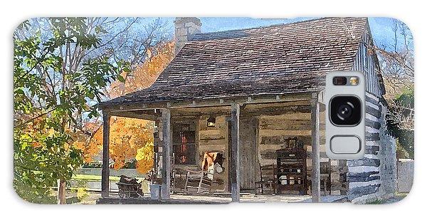 Town Creek Log Cabin In Fall Galaxy Case