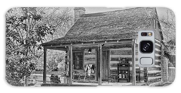 Town Creek Log Cabin In Fall_2 Galaxy Case