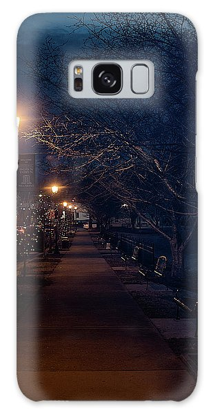 Town Street A Night Galaxy Case
