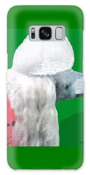 Toy Poodle Louie In His Red Sweater Galaxy Case by Marian Cates