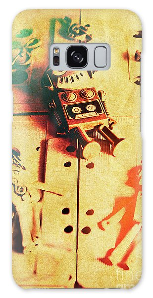 Punk Galaxy Case - Toy Robots On Vintage Cassettes by Jorgo Photography - Wall Art Gallery