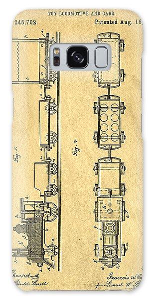 Trains Galaxy Case - Toy Train Original Vintage Patent Art by Edward Fielding