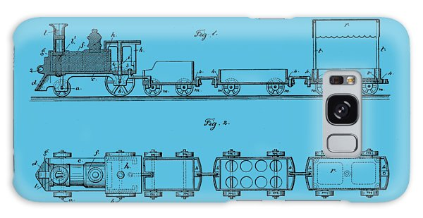 Trains Galaxy Case - Toy Train Tee by Edward Fielding