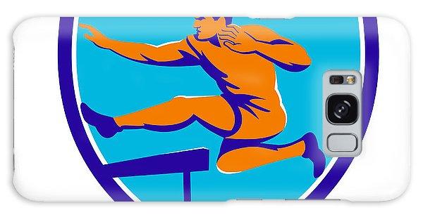 Sportsman Galaxy Case - Track And Field Athlete Jumping Hurdle by Aloysius Patrimonio