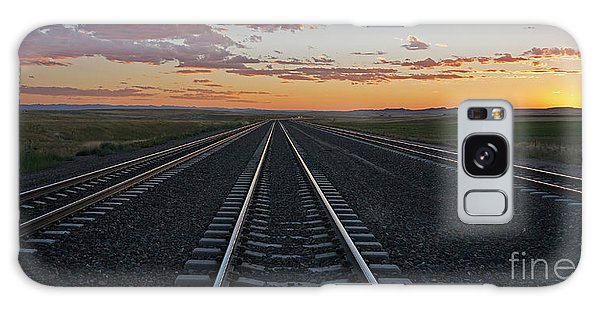 Tracks Into Sunset Galaxy Case