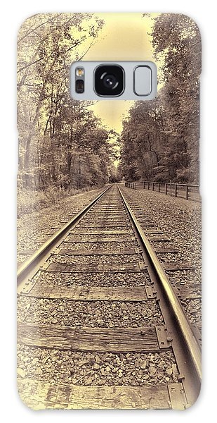 Tracks Through The Park Galaxy Case by Dennis Lundell