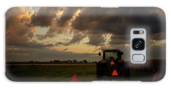 Tractor At Sunrise - Chester Nebraska Galaxy Case
