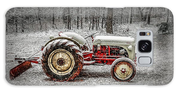 Tractor In The Snow Galaxy Case by Doug Long