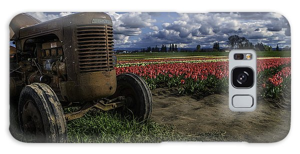 Tractor N' Tulips Galaxy Case