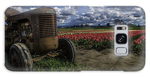 Tractor N' Tulips Galaxy Case