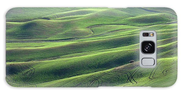 Tractor Tracks Agriculture Art By Kaylyn Franks Galaxy Case