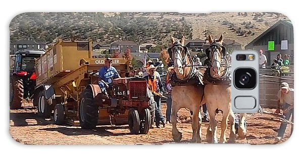 Tractors And Draft Horses Pulling Galaxy Case