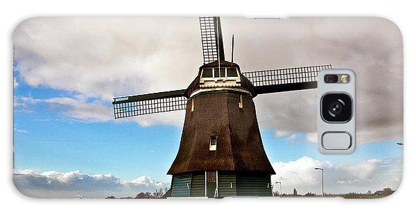 Traditional Dutch Windmill Near Volendam  Galaxy Case