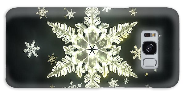 Galaxy Case - Traditional Sunlight Snowflakes by Jules Gompertz