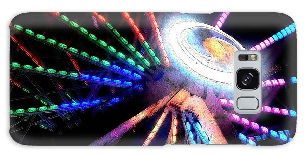 Trail Of Lights Abstract #7486 Galaxy Case by Barbara Tristan