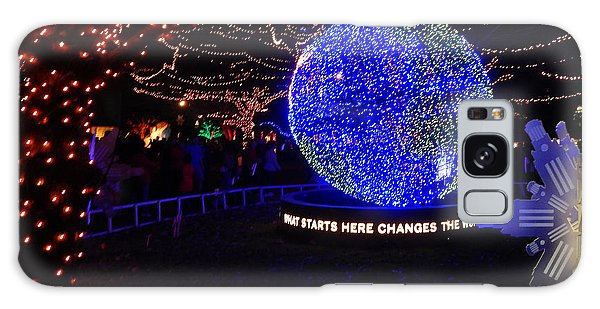 Trail Of Lights World #7359 Galaxy Case by Barbara Tristan
