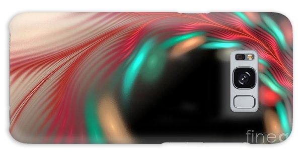 Galaxy Case featuring the digital art Trailing Hearts by Sandra Bauser Digital Art