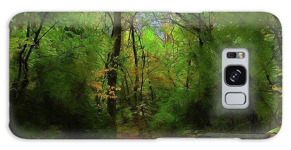 Trailside Bench Galaxy Case by Cedric Hampton