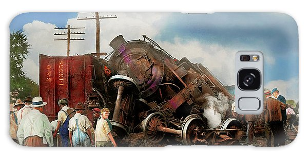 Train - Accident - Butting Heads 1922 Galaxy Case by Mike Savad
