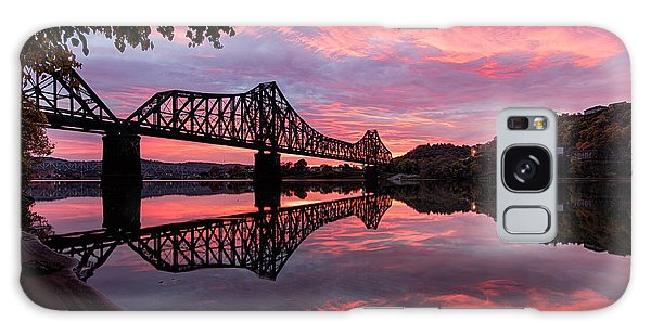 Train Bridge At Sunrise  Galaxy Case