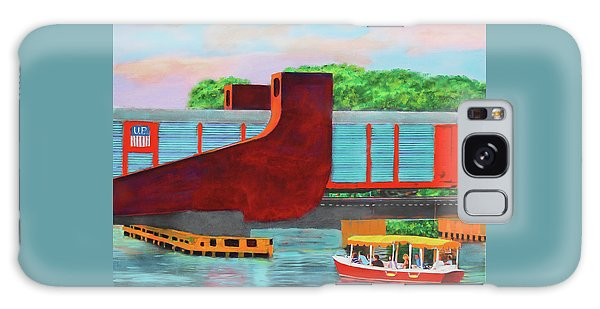 Galaxy Case featuring the painting Train Over The New River by Deborah Boyd