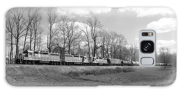 Train In Black And White 20 Galaxy Case