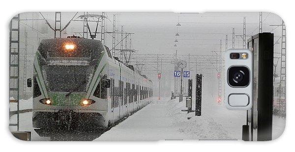 Train In Helsinki Galaxy Case by Margaret Brooks
