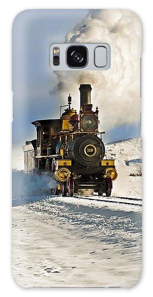 Train In Winter Galaxy Case