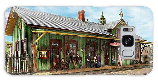 Train Station - Garrison Train Station 1880 Galaxy Case by Mike Savad