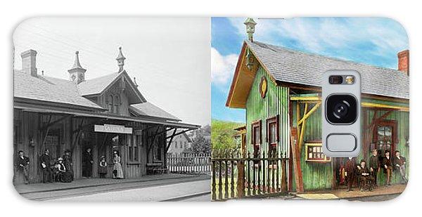 Train Station - Garrison Train Station 1880 - Side By Side Galaxy Case by Mike Savad
