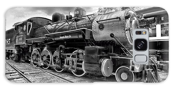 Train - Steam Engine Locomotive 385 In Black And White Galaxy Case by Paul Ward